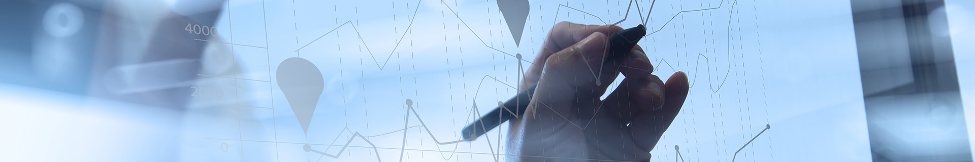 An accountant creating a graph