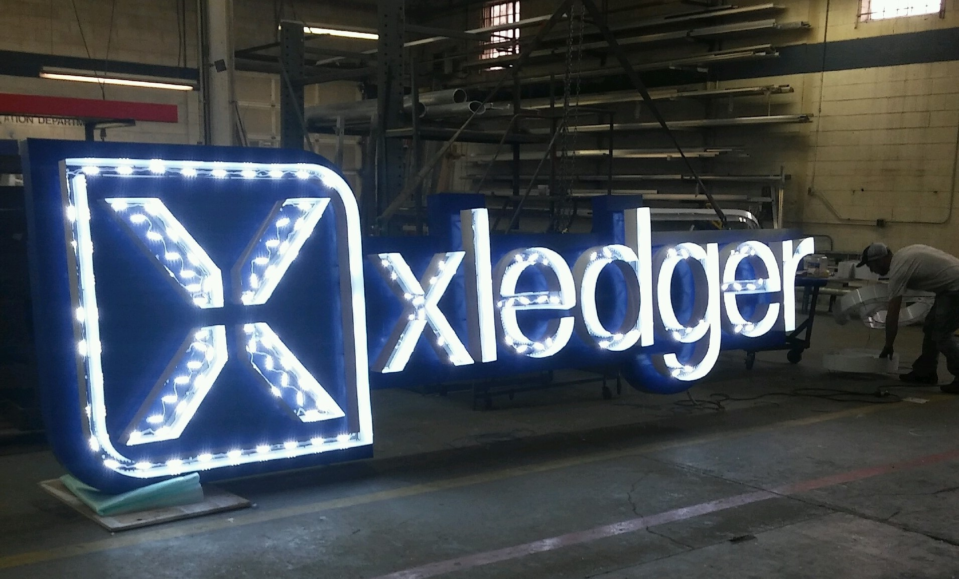 Xledger sign designed by Gordonsigns