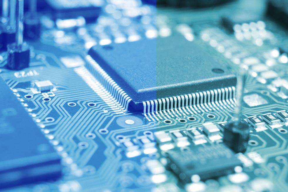 Closeup of a circuit board