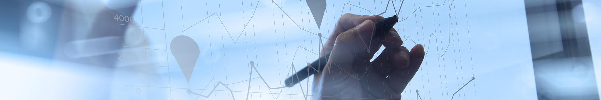 An accountant creating a graph