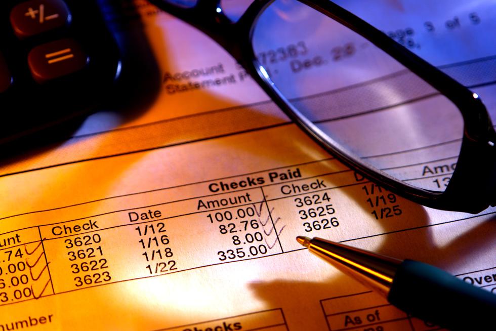 Expense report closeup