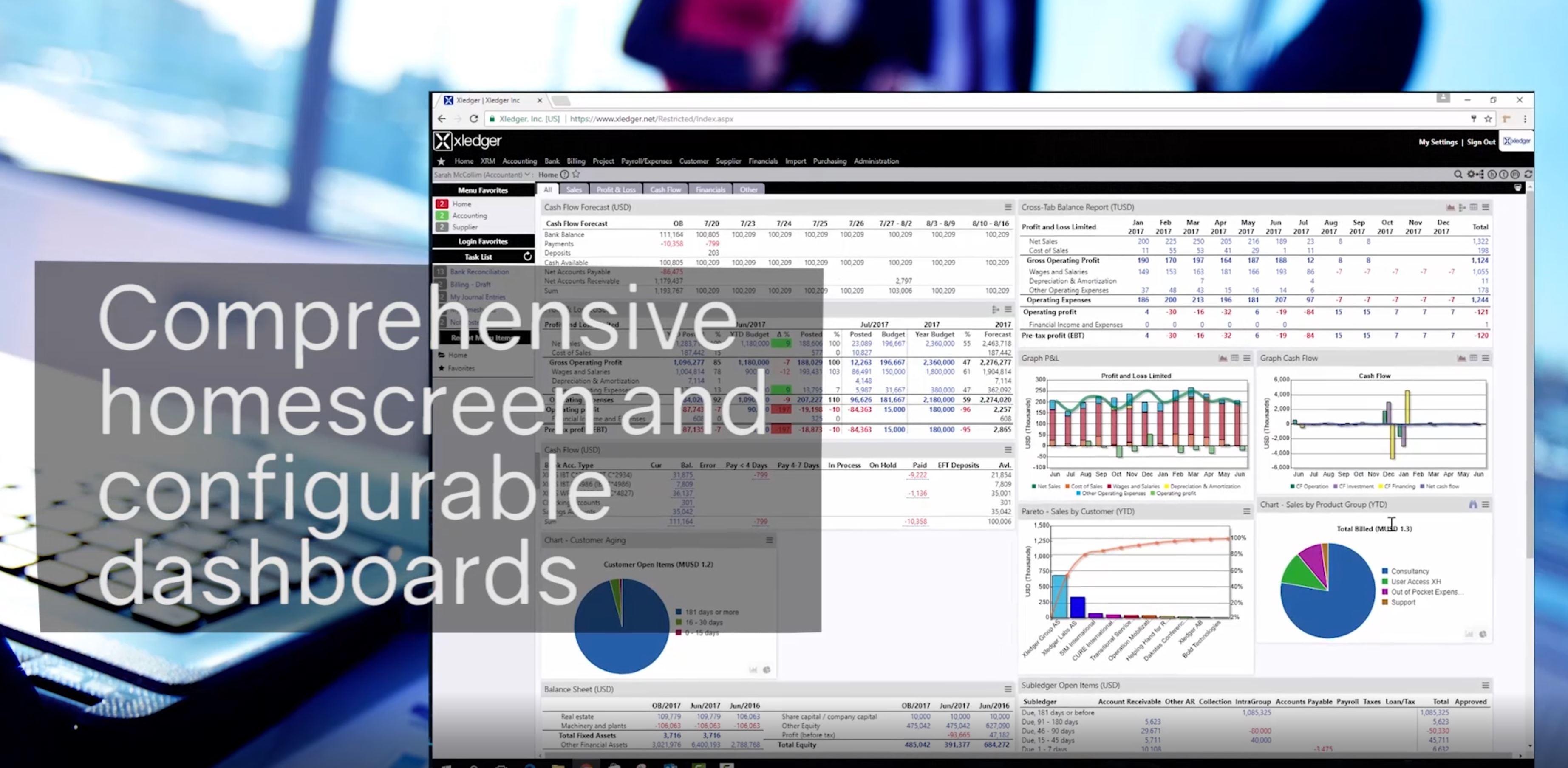 Video thumbnail showing Xledger's homescreen